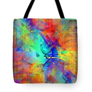 Colorful Crash 9 Tote Bag
