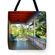 Colorful Creole Porch Tote Bag by Carol Groenen