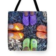 Colorful Crocs Tote Bag