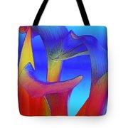 Colorful Crowd Tote Bag by Michelle Wiarda