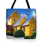 Colorful Danish Church Tote Bag