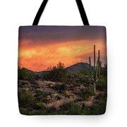 Colorful Desert Skies At Sunset  Tote Bag