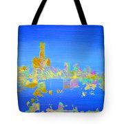 Colorful Detroit Skyline Tote Bag by Danielle Allard