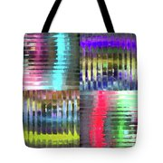 Colorful Distortions Tote Bag