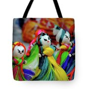Colorful Dolls Tote Bag