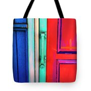 Colorful Doors Real And Otherwise Tote Bag  sc 1 st  Fine Art America & Colorful Doors Real And Otherwise Mixed Media by Carol Leigh