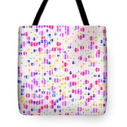Colorful Dots On Pink Tote Bag