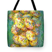 Colorful Eggs Tote Bag by Carl Deaville