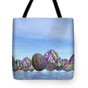 Colorful Eggs For Easter - 3d Render Tote Bag