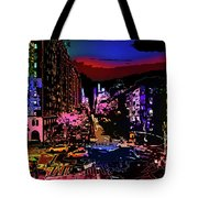 Colorful Evening Shadows Tote Bag