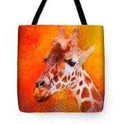 Colorful Expressions Giraffe Tote Bag