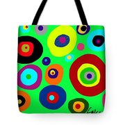 Colorful Eyes In The Green Sky Tote Bag