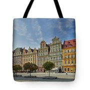colorful facades on Market Square or Ryneck of Wroclaw Tote Bag