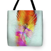 Colorful Feather Art Tote Bag