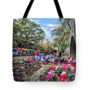 Colorful Festival Along River Walk Tote Bag