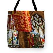 Colorful Flags And Stained Glasss Windows Tote Bag