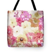 Colorful Floral Background Tote Bag