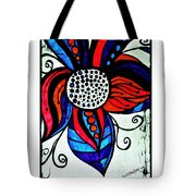 Colorful Flower Tote Bag