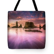 Colorful Flux From Seastacks Tote Bag