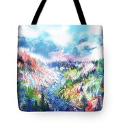 Colorful Forest 5 Tote Bag