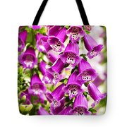 Colorful Foxglove Flowers Tote Bag
