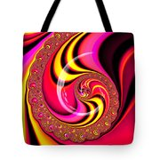 Colorful Fractal Spiral Red Yellow Pink Tote Bag