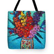 Colorful Gladiolus Tote Bag
