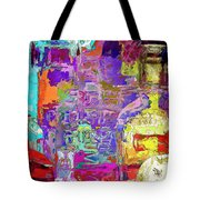 Colorful Glass Bottles Abstract Tote Bag