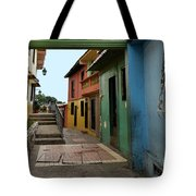 Colorful Guayaquil Alley Tote Bag