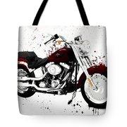 Colorful Harley Davidson Paint Splatter Tote Bag