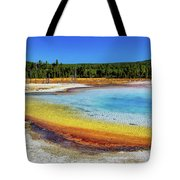 Colorful Hot Spring In Yellowstone Tote Bag