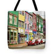 Colorful Houses In St Johns In Newfoundland Tote Bag