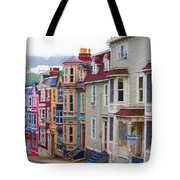 Colorful Houses In St. Johns, Nl Tote Bag