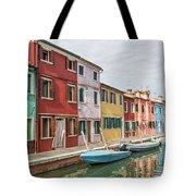 Colorful Houses On The Island Of Burano Tote Bag