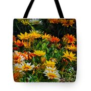 Colorful In The Garden  Tote Bag