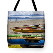 Colorful Kayaks Tote Bag