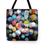 Colorful Key West Lobster Buoys Tote Bag by John Stephens