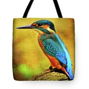 Colorful Kingfisher Tote Bag
