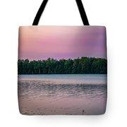 Colorful Lake-side Sunset Tote Bag