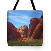 Colorful Landscape Rock Mountains Of Overton Nevada  Tote Bag