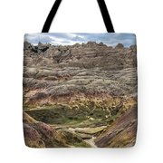 Colorful Layered Mountains  Tote Bag