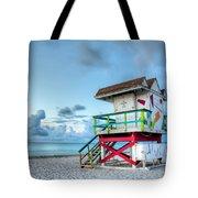 Colorful Lifeguard Tower Tote Bag