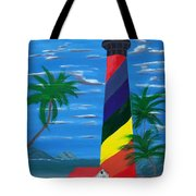 Colorful Lighthouse Tote Bag