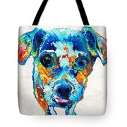 Colorful Little Dog Pop Art By Sharon Cummings Tote Bag