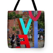 Colorful Love Sign In Kaohsiung Tote Bag