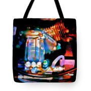 Colorful Machine In Blue And Purple Tote Bag