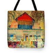 Colorful Mauritiun Cottage Tote Bag