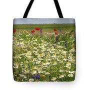 Colorful Meadow With Wild Flowers Tote Bag