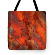 Colorful Metal Abstract With Border Tote Bag