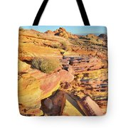 Colorful Morning At Valley Of Fire Tote Bag